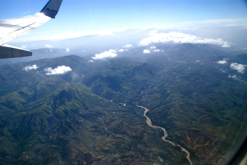 Haiti from air