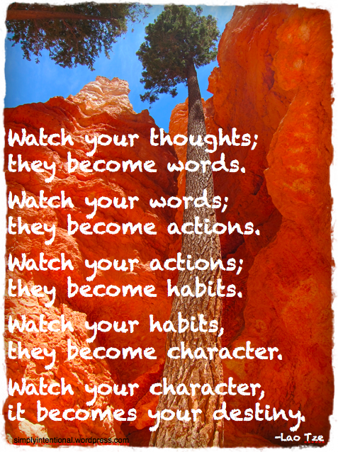 watch your habits they become character