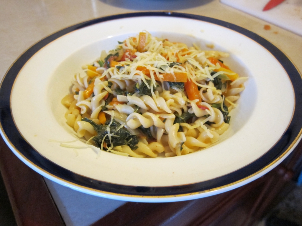 Creative Affordable Cooking - Callaloo Pasta