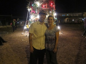 Christmas Eve at the downtown Sav-la-Mar night market