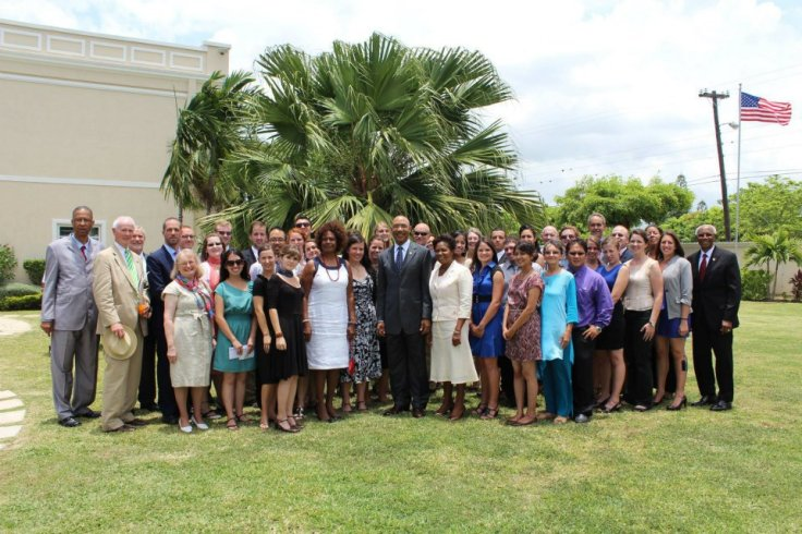 PCJ Group 83 swearing in with the U.S. Ambassador and Jamaica's Governor General