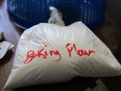 Baking flour in bulk