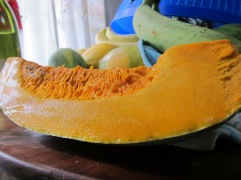 A wedge of pumpkin (a.k.a. squash)