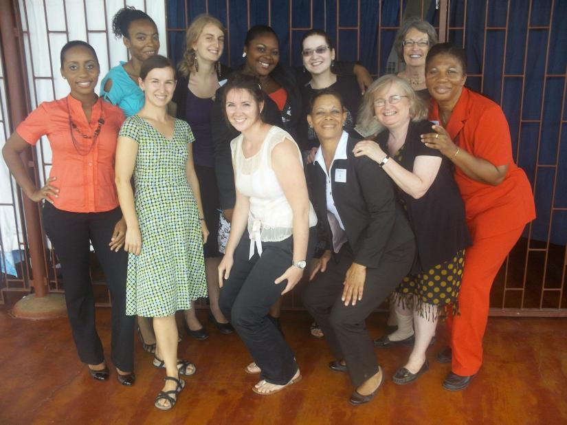 Ladies in the education sector, April 2012 (Sue is behind me in blue)
