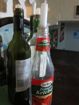 bottle candleholders