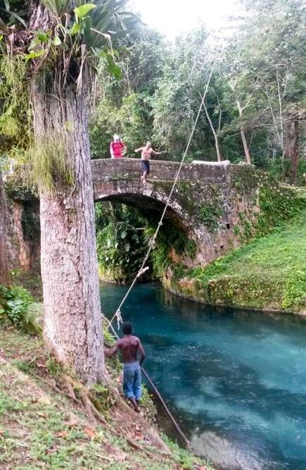 Jedd jumping from Spanish Bridge