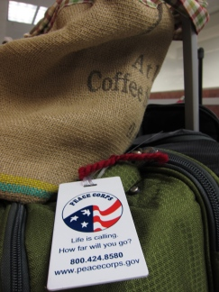 Bags packed for Peace Corps