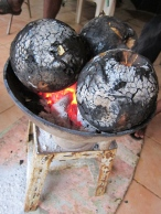 Roasting Breadfruit