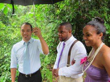 wedding in rain in JA