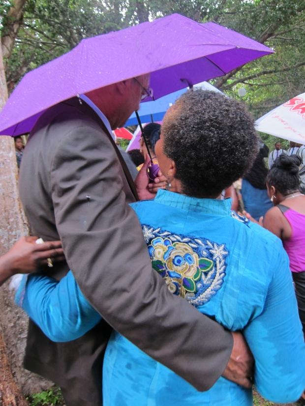 host parents under umbrella