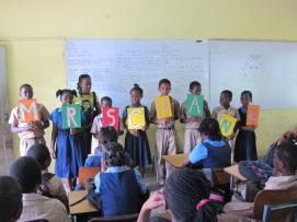 The students did a little song/skit for me