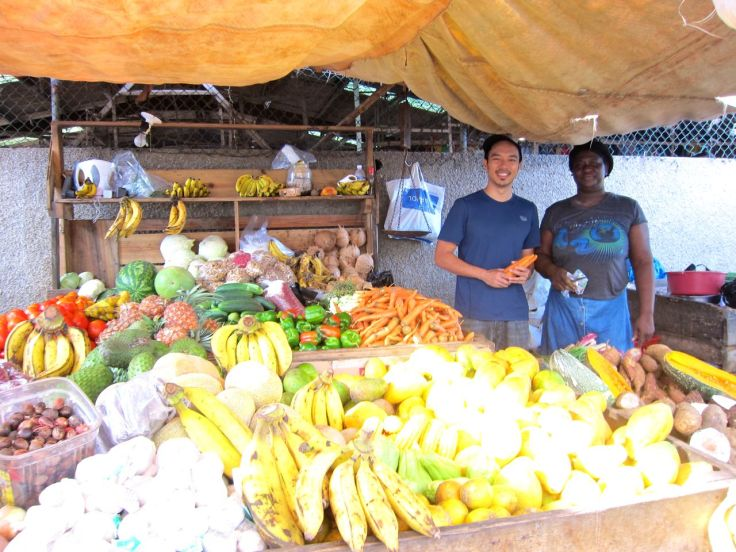 This is the market lady we saw nearly every Saturday for the past two years. She took good care of us.