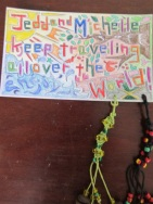 A creative card and craft from our friend in the Japanese Volunteer program