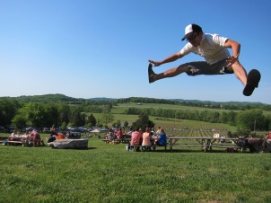 For fun, people in Nashville hang out at vineyards