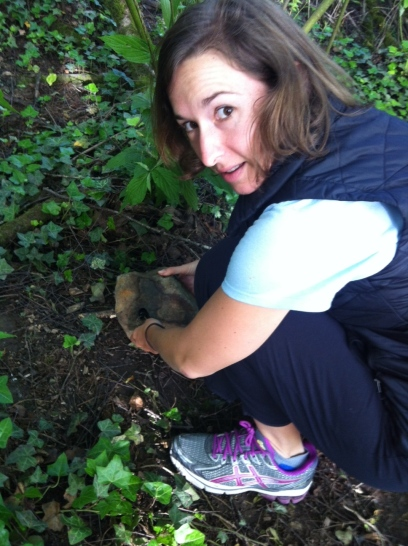 1st time geocaching