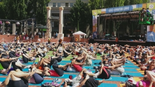 World Record Setting Yoga Chain