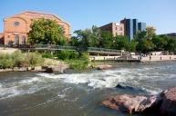River bike trail, Confluence Park, Denver