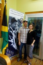Visiting the Peace Corps Office in Kingston