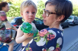 College friend Jen and her sweet son, Espen in Copenhagen